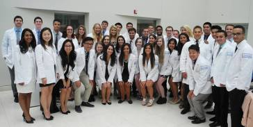 White Coat Ceremony during first semester of our Doctor of Physical Therapy Program at Seton Hall University.
